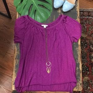 Tops - Fuschia tee blouse by American eagle outfitters xs